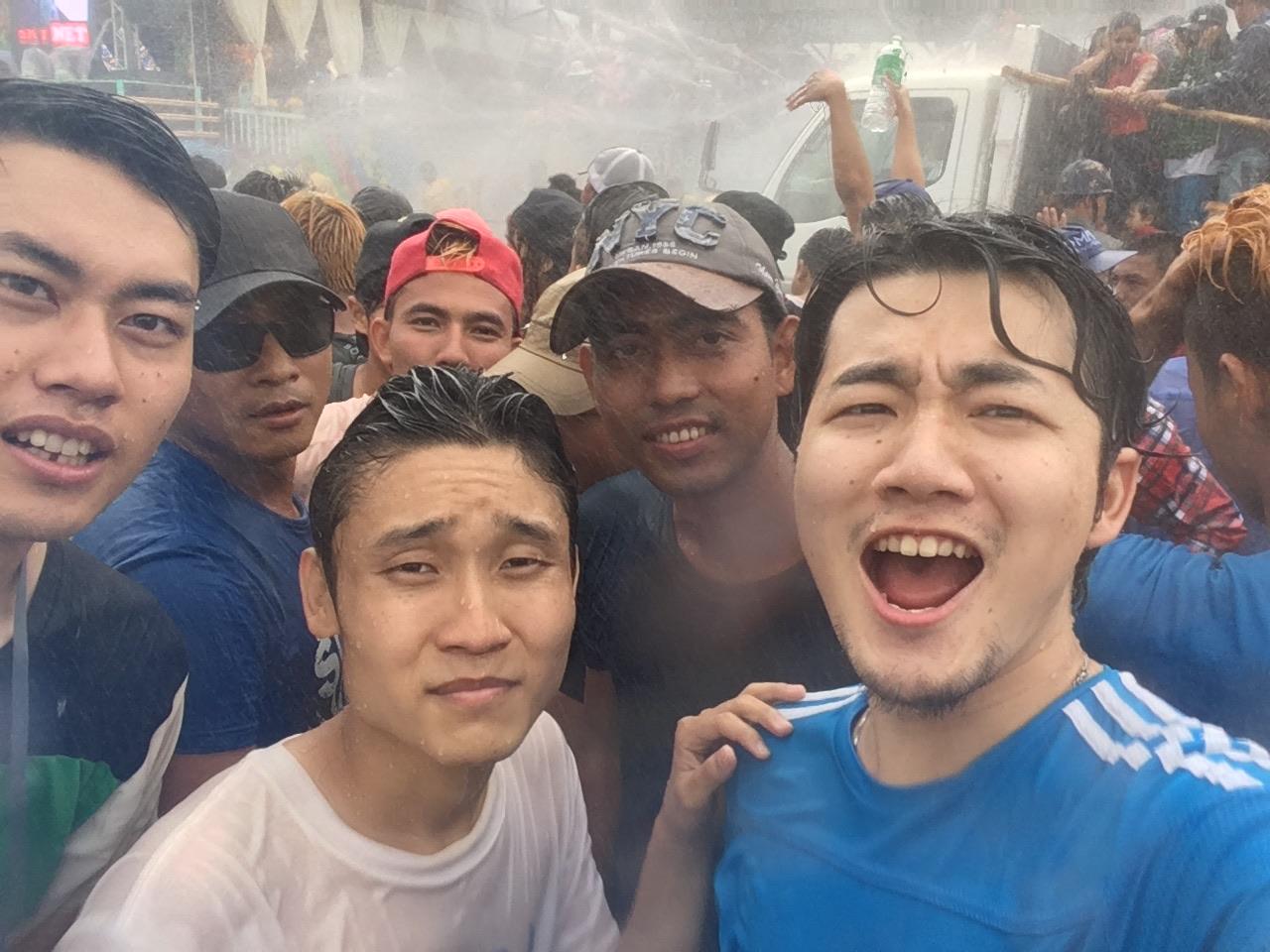 ミャンマー新年のお祭り、ティンジャン(Thingyan)祭りへ行ってきた!!!